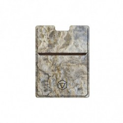Card holder in tan stone